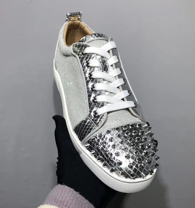 Hot Sale-tal studded spikes casual shoes for men and women low top sneakers with soft bottom,genuine leather size 36-46