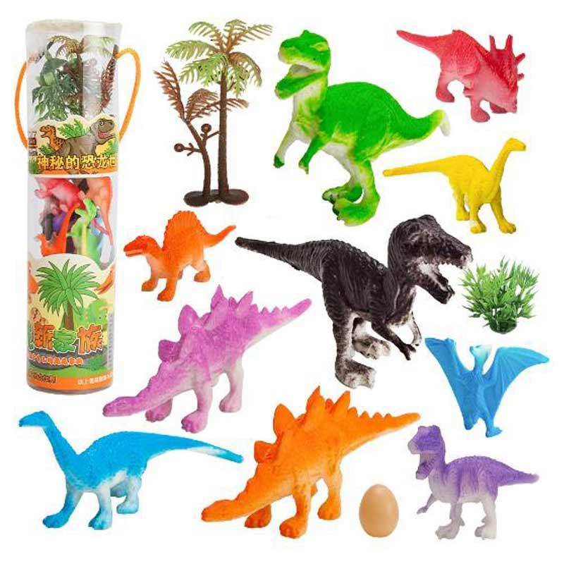 8Pcs Small Simulation Dinosaurs Kids Dinosaur Figures Model Toys Kids Gift