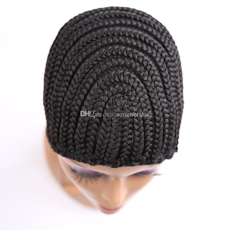 Cappuccio parrucca Cornrow per fare parrucche con cinturino regolabile Treccia berretto per parrucca tessere Rosa Prodotti per capelli Donne retine per capelli Easycap 5pcs / Lot