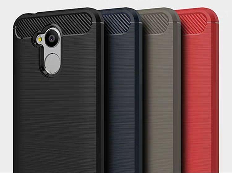 Силиконовые волокна ТПУ защита телефона геля углерода, отведенное отверстие веревочки для Huawei в хорошие руки чувство
