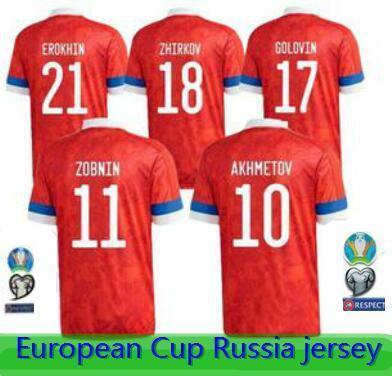 Shirt 20/21 Russia PRINCIPALE maglie di calcio 20/21 Russia Arshavin MIRANCHUK Zhirkov Erokhin Kombarov Smolov Calcio