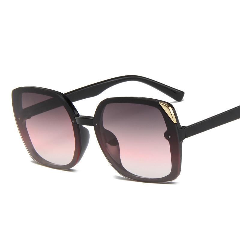Occhiali in plastica vintage quadrato occhiali da sole sovradimensionati per il designer di marca Higodoy femminile sole donne uv400 vjpbo