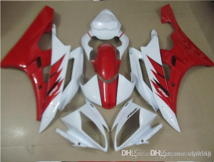 3 Free gifts New Injection ABS Fairing Kits 100% Fitment For YAMAHA YZF-R6 06-07 YZF600 2006 2007 R6 bodywork set White red FIAT 99
