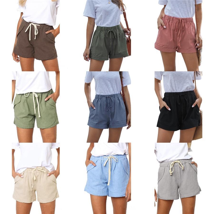Casual Casuale floreale vita Mid Stampa Abbigliamento Donna Estate Designer Beach brevi pantaloni larghi elastico in vita Homme ansima il modo # 402