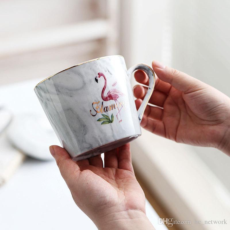 Ceramic Marble Caneca clássico mármore caneca de porcelana pintada à mão Cerâmica Sr. e Sra Leite Tea Cups Frete grátis