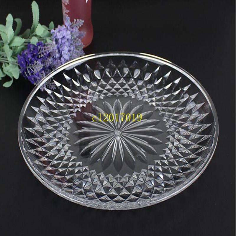 Plateau de fruits en plastique créatif acrylique transparent plateau de fruits en gros KTV snack plat plat de fruits secs