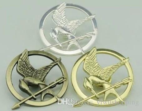 Envio Grátis ! Atacado bonito Prety Hot filme The Hunger Games Antique Bronze banhado Mockingjay Pin Broche