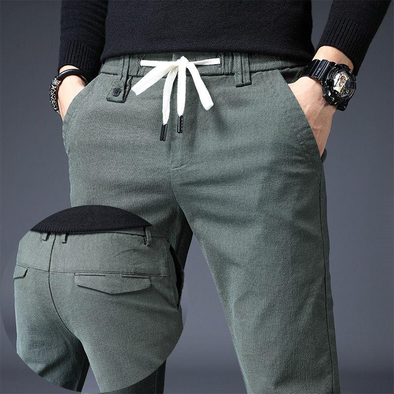 Marken-Mann-Hosen-beiläufige Mens Business Male Hose Classics Mid Gewicht Gerade schwarz Ganzkörper Mode Atem Hose