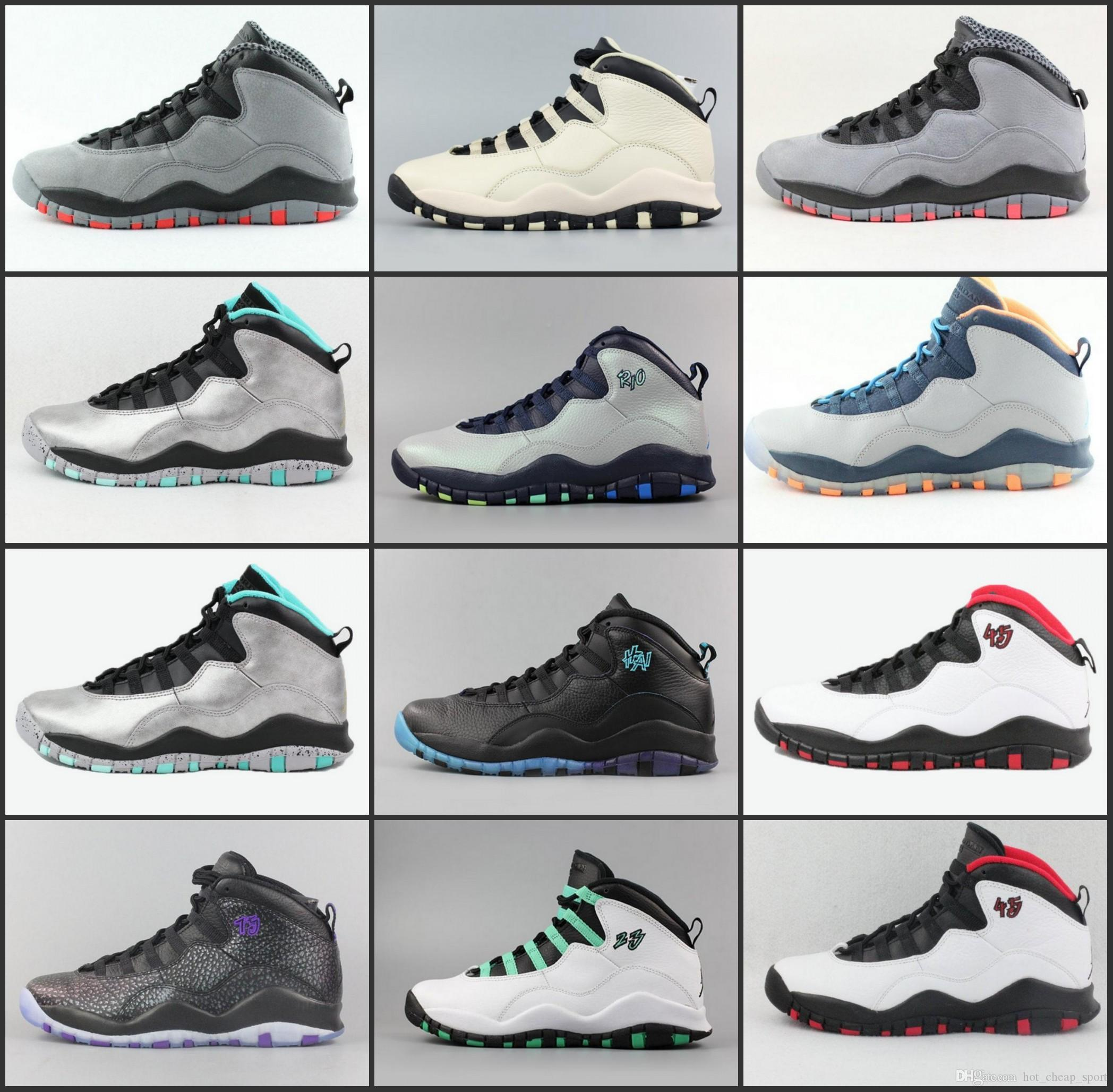 New 10 Mens Basketball Shoes Steel Grey