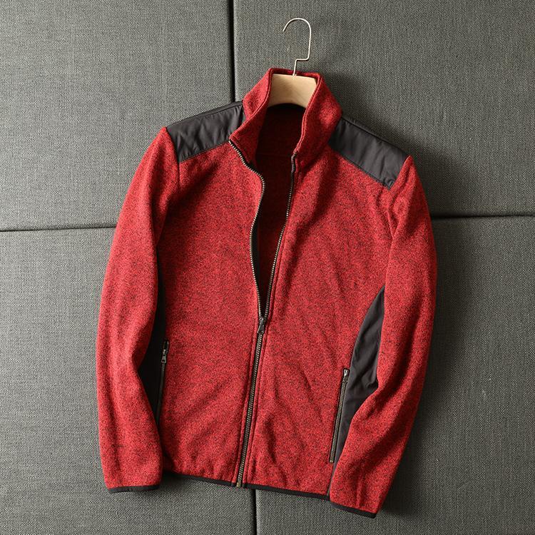 Nuova giacca casual moda primavera Knitting Stitching MC97