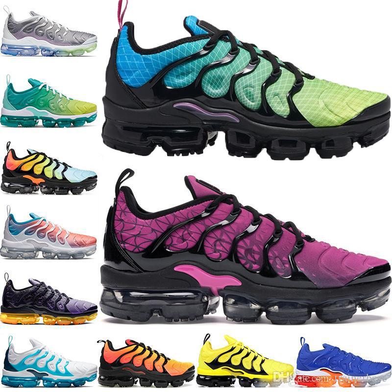 بالإضافة إلى TN مصمم الرجال النساء أحذية رياضية أورورا الأخضر لعبة رويال الترا الأبيض الأسود أفضل TN المدربين الرياضة الاحذية 36-45