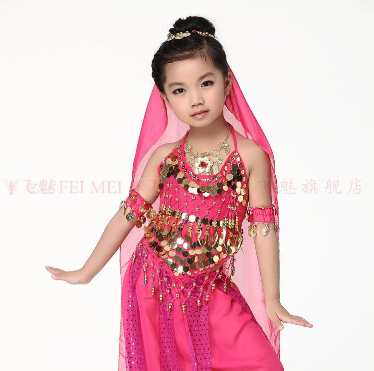 Child dance accessories gold coins veil child belly dance hair accessory 0.93*0.46m scarf