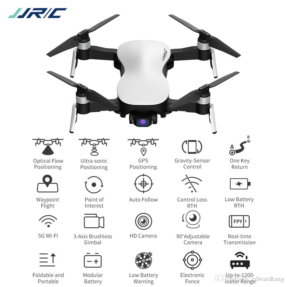 JJRC X12 الطائرات 1200M RC القطر، 4K HD كاميرا WIFI FPV الطائرة بدون طيار، الترا سونيك GPS لتحديد المواقع، مسار المنحنى الطيران، السيارات متابعة كوادكوبتر، 3-2