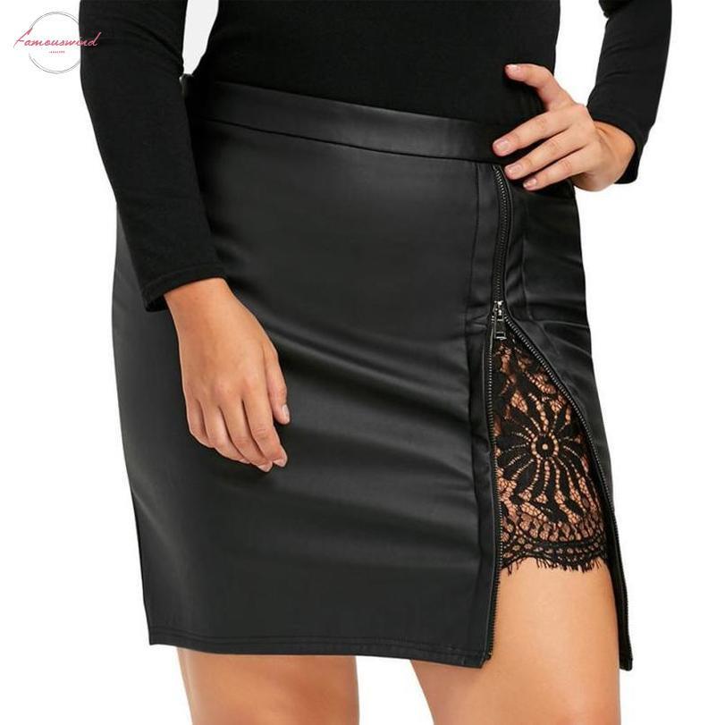 Femmes Mode Filles travail Jupe Ol Uniforme dentelle en cuir Jupe plissée Drop Shipping 1M8 * Drop Shipping