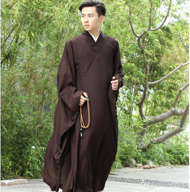 3 colori buddista zen Robe Laici Monaco Meditazione abito Monk formazione uniforme vestiti del vestito Lay buddisti impostare Buddismo Robe apparecchio