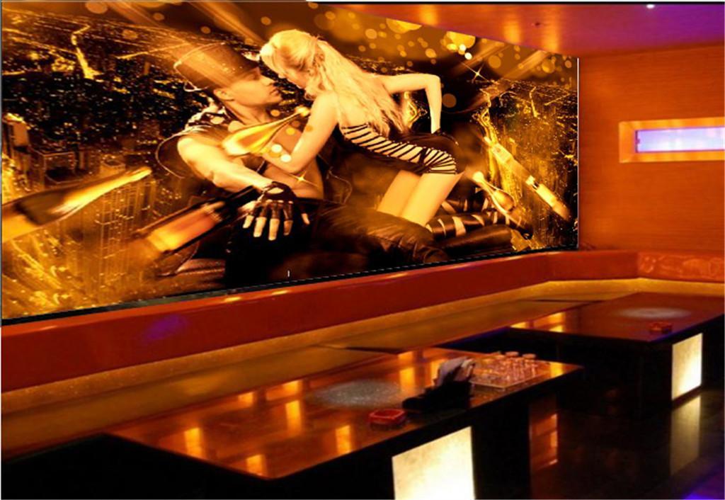 JB KTV Dekoratif HD Duvar Kağıdı Seksi Gece Romantik Çift Güzel ve Pratik Rahat Karakter Duvar Kağıdı