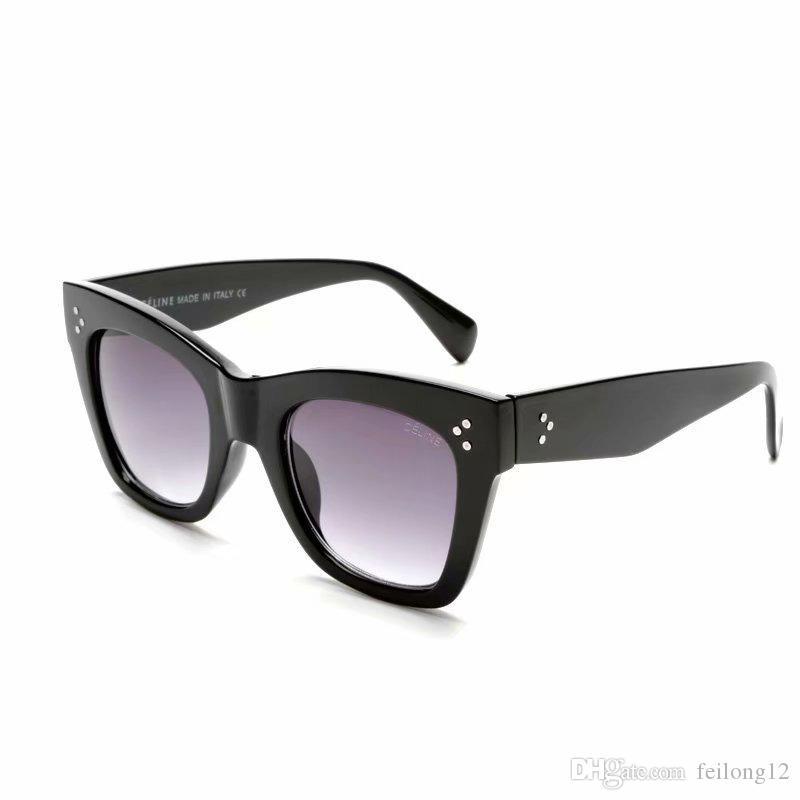 Classic Cat Eye Sunglasses Women Vintage Oversized Gradient Occhiali da sole tonalità femminile design di lusso UV400 Sunglass