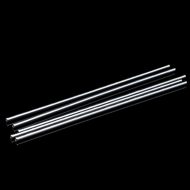 New 10pcs 100mm Stainless Steel Shaft Toy Car Gear Axle for DIY Accessories