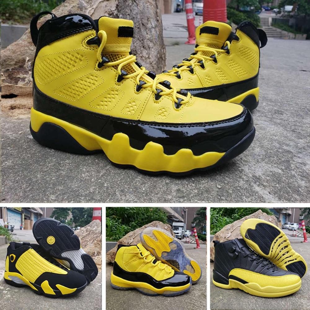 Hot Sale Jumpman 9s Yellow Basketball Shoes Male Outdoor 11s Bumblebee Basket Sneaker 12s 14s Classic Chassures