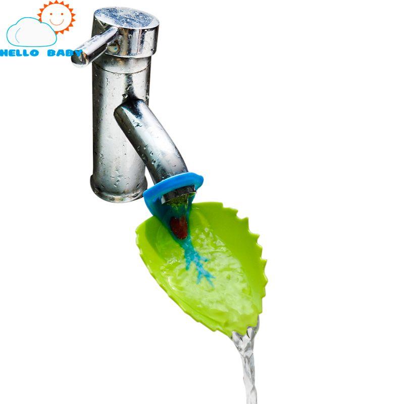 Lindo baño grifo del fregadero Chute Extender cangrejo infantil para niños Lavarse las manos convenientes para los niños