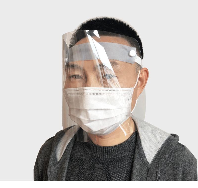 Stok Koruyucu Anti Toz Maskesi MMA3368-B Yetişkin toz geçirmez Kapak Yüz Shield Şeffaf Tam Yüz Maskeleri Maske