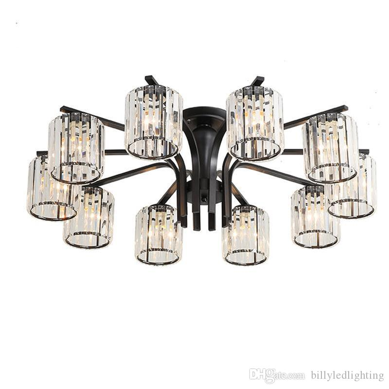 Creative crystal living room ceiling light chandelier modern simple dining room glass wall lamp factory direct sale new style