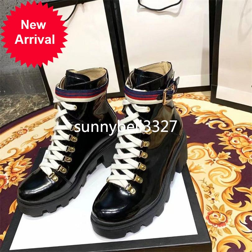 2019 Lady Martin Booties Box Women's Trip Embroidered Leather Ankle Boot Sylvie Web outdoor boots For Women Shoes 5GG1