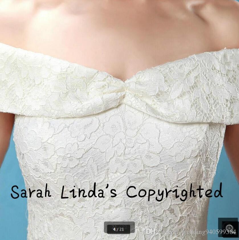 Robe De Mariage Новое белое кружево с плеча свадебное платье мяч платье принцесса v декольте простые невесты платье лучше всего продавать 2019