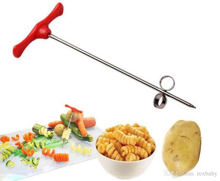 Ручной спиральный винт слайсер проволоки картофеля морковь огурец овощи спиральный нож резьба станок