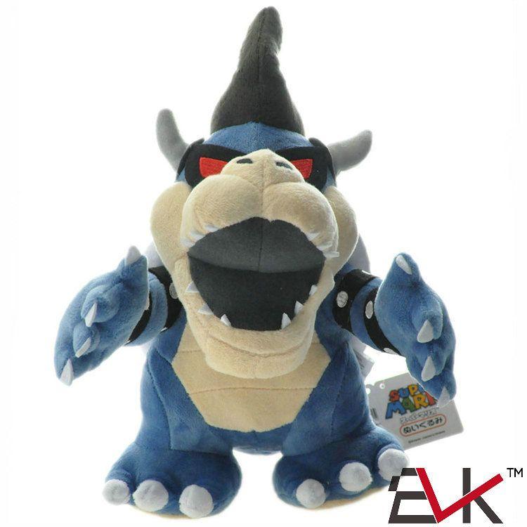 28cm / 11 inch Super Mario Bros. Blue Koopa Baby Dragon Dark Plush Doll Soft Plush Doll Plush Toy