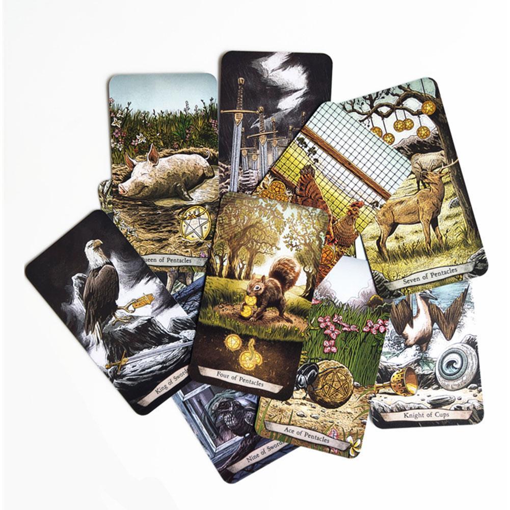 78 Pcs / Set Cartes Tarot Jeux de société Carte Totem Nouveau animal carte de tarot Famille enfants Fournitures de jeux