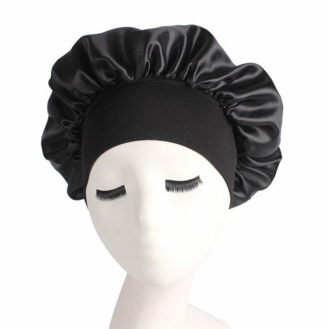 Sono Hat Moda Mulheres sono Cap Elastic Wide Band cetim Bonnet Cap Turban Headband Hair Care Bonnet Acessórios de cabelo