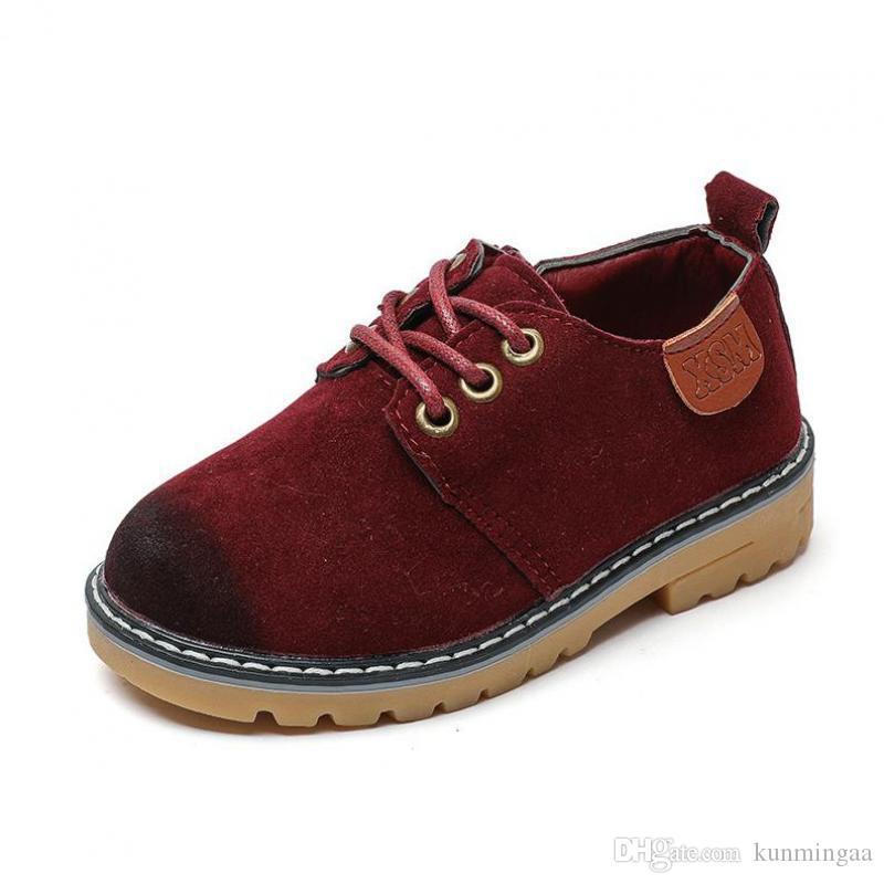 Niños de primavera Mocasines casuales Zapatos de cuero Niños Boys Loafer Mocasines Zapatos de baile School Outdoor Moda Niños Zapatos de boda