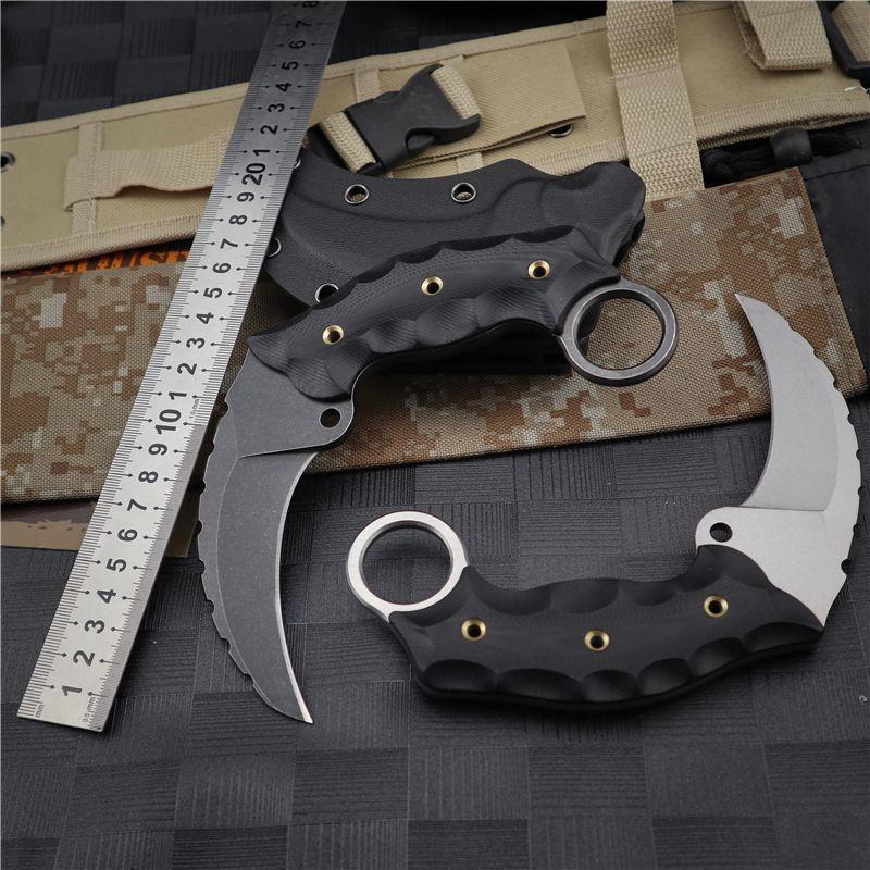 D2 çelik bıçak katlama cep taktik bıçak yardımcı açık bıçak sağkalım EDC karambits yardımcı pençe av bıçak Kamalar bıçaklar sabit