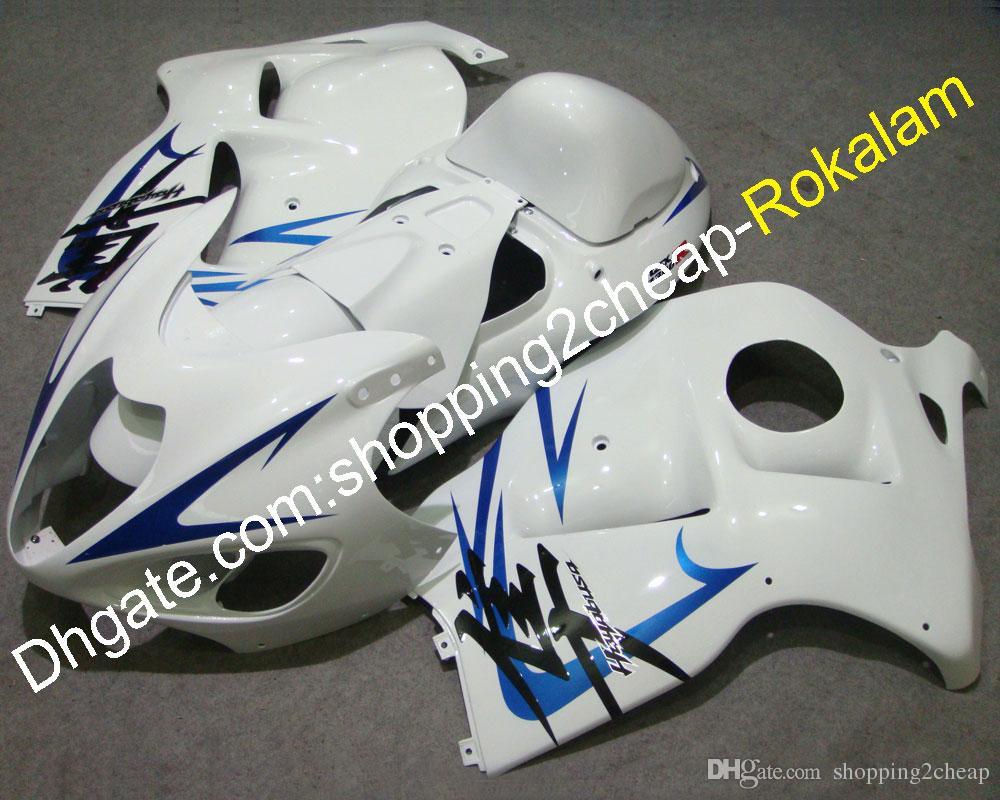 Motorbike Kit For Suzuki Hayabusa GSX-R 1300 1999-2007 Parts GSX R1300 GSXR1300 White Motorcycle Bodyworks Fairing (Injection molding)