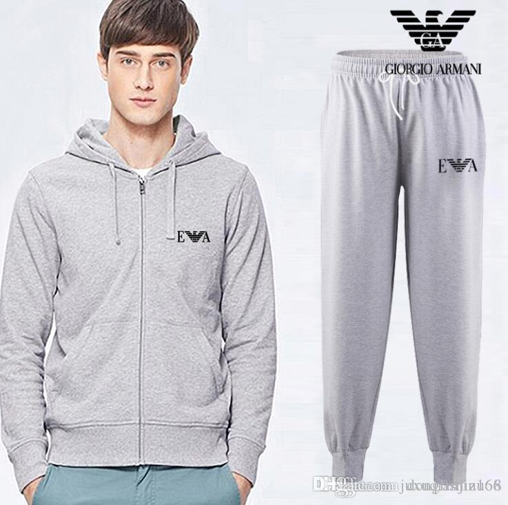 Wholesale-New Winter Jacket Mens Hoodies and Sweatshirts Sweat Suits Oversized Male Hooded Sets Sporting Suit Brand Mens Tracksuit Sets