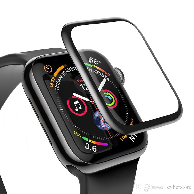 For Apple Watch 3D Full Glue Tempered Glass Screen Protector 42mm 38mm 40mm 44mm Anti-Scratch For iWatch Series 1/ 2/ 3/4
