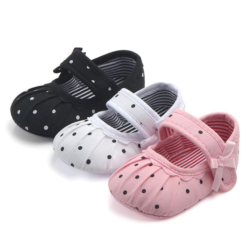 Toddler Baby Boys Girls Shoes 0-18 Months PU Leather Mary Jane Crib Shoes