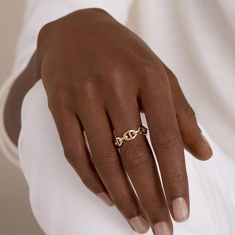 Peri'sBox 2 diseños fotografica tres capas de la cadena Anillos Multi Enlace irregulares anillos abiertos para las mujeres minimalistas anillos ajustables 2019