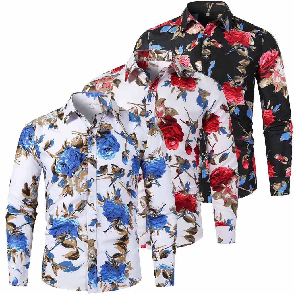 Erkekler Sonbahar Kış Casual Slim Baskılı Gömlek Modelleri En Plaj Bluz Moda Boyut Boş İş Kıyafetleri Ücretsiz Denizcilikte