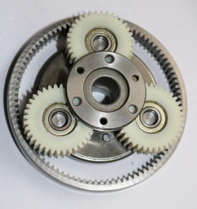 1Set 36T Gear Diametro: 38mm Spessore: 12mm ad alta velocità veicolo elettrico del motore in nylon Gear + Gear Ring + frizione