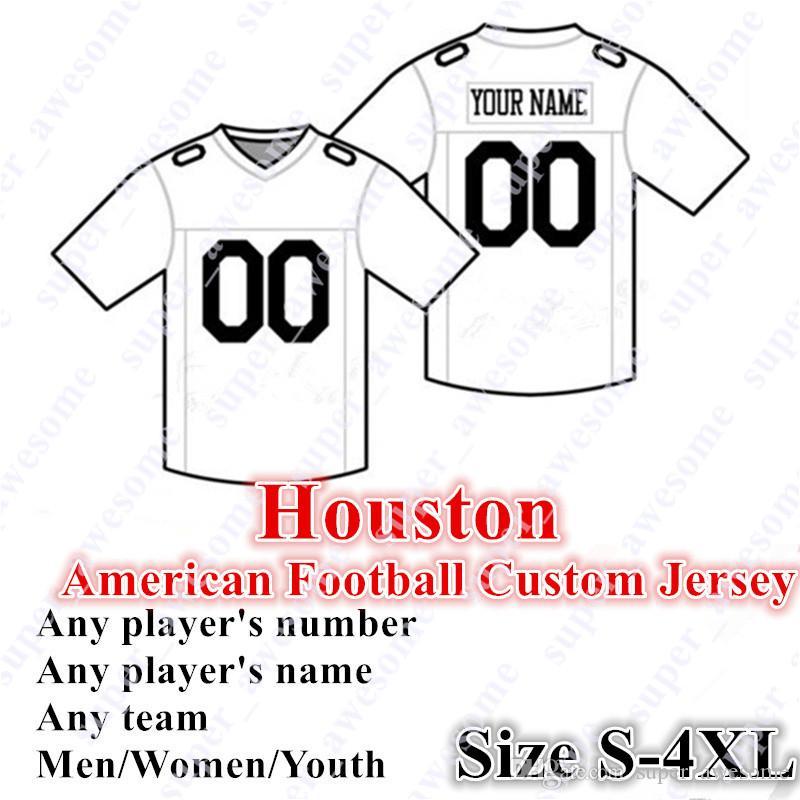 Personalizado Houston Football Jersey Watson 10 Hopkins 23 Hyde 15 Fuller V 12 Stills 99 Watt 59 Mercilus 57 Scarlett Cunningham Operderce Azul