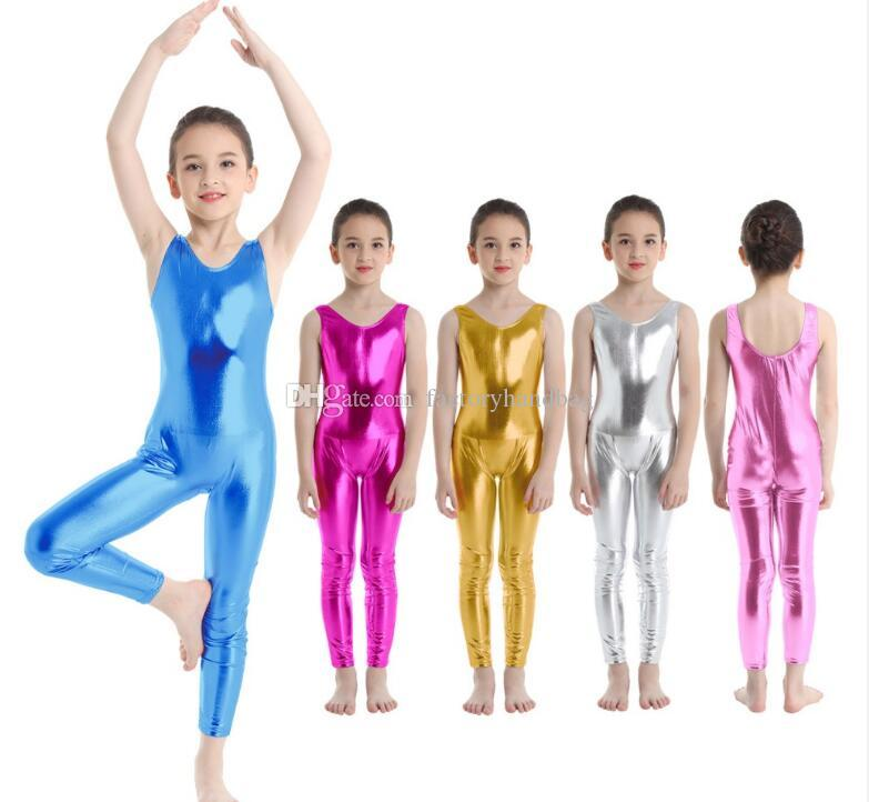 US Girls Gymnastics Leotards Ballet Dance Dress Kid Unitards Costume Dancewear