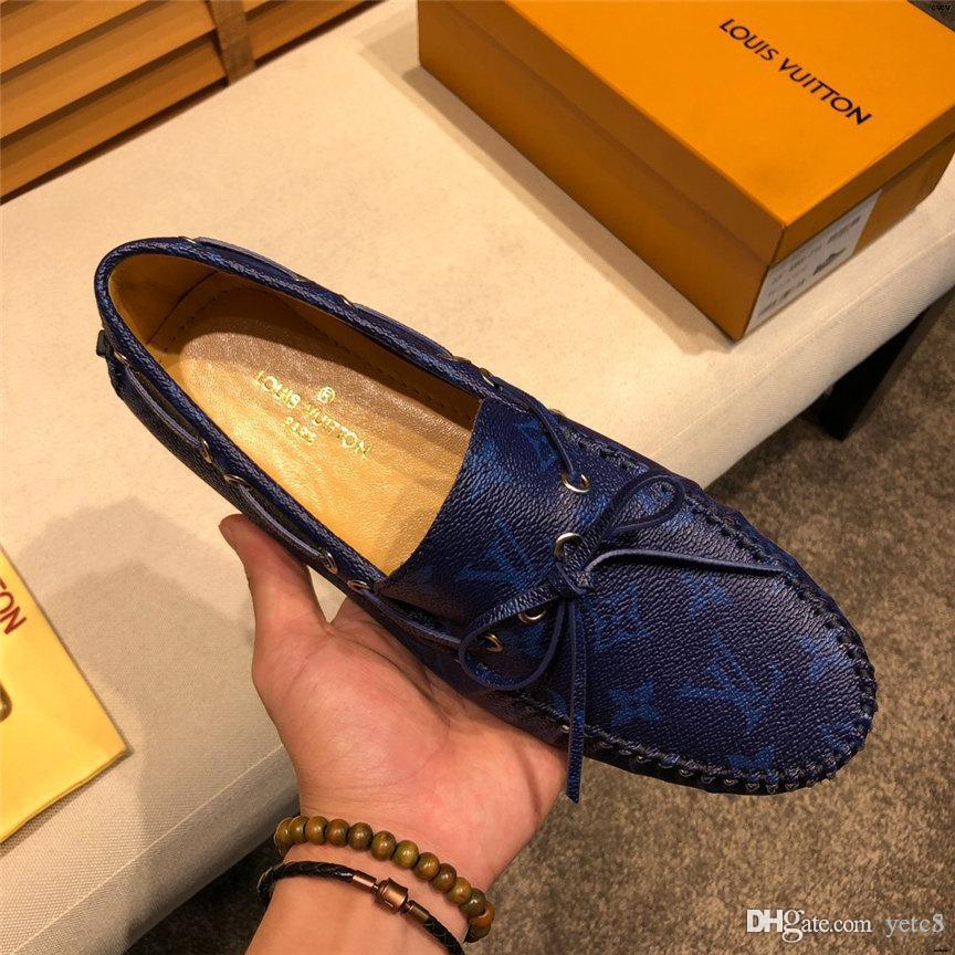 20WR genuino del hombre de cuero zapatos de los holgazanes perezosos se deslizan en los ZAPATOS ocasionales mocasines de conducción plana HOMBRE ZAPATOS chaussure homme tamaño grande: 38-46