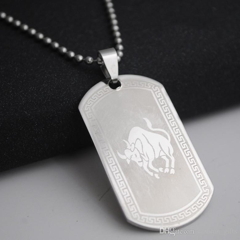 1 Taurus acero inoxidable 12 de la constelación doce collar logo 12 Zodiac collar símbolo amuleto coreana suerte collar 12 constelación