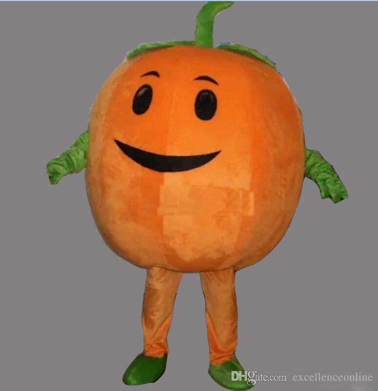 2019 High quality hot Cute Pumpkin Adult Size Mascot Costume Fancy Birthday Party Dress Halloween Carnivals Costumes