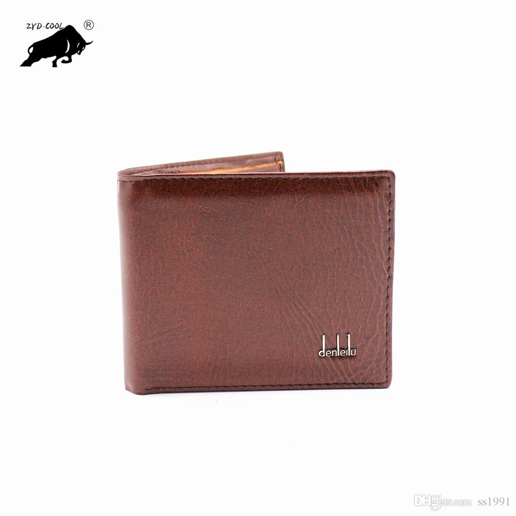 Hot Sale New style genuine PU hasp design men's wallets with