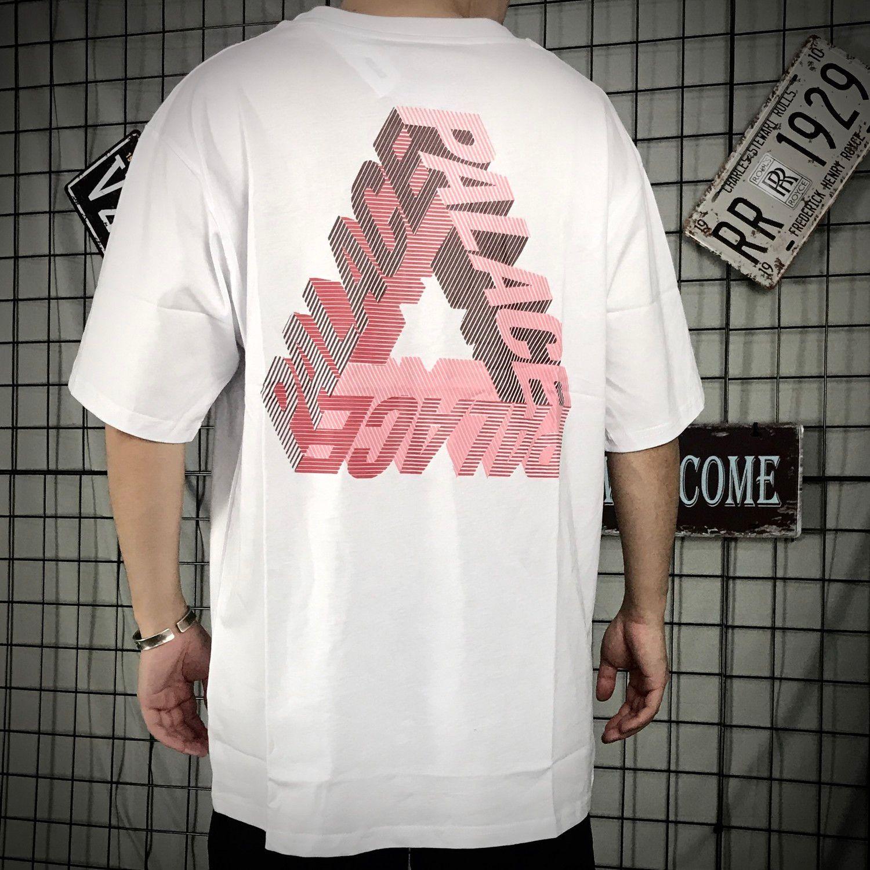 Palacio populares Marca 3D estéreo Logotipo fantasma de manga corta camiseta de gran tamaño Lettered amantes 6699