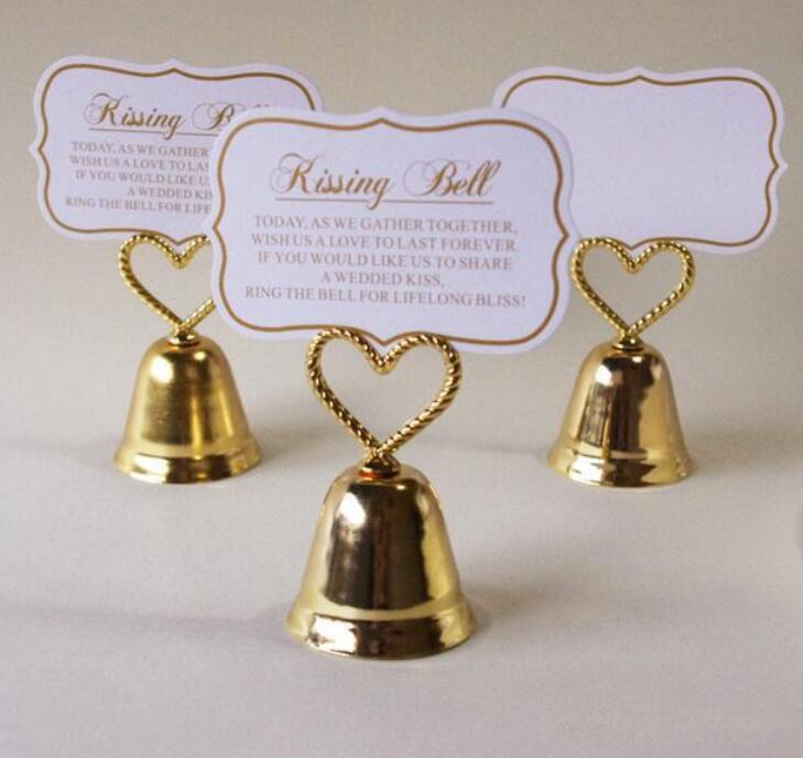 Новый творческого Kissing Белл Сердце колокол клипы, клипы, сообщение Примечания Клипов для партии Свадебного украшения стола Благоприятных XD23174