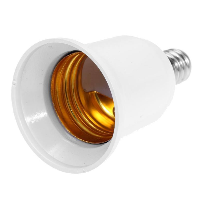 محولات E14 TO E27 LED هالوجين CFL لمبة مصباح محول حريق مقبس التوصيل موسع برغي قاعدة الرئيسية لمبة مصباح حامل